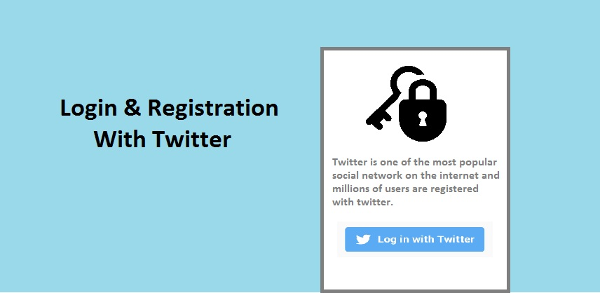 Login with Twitter using PHP